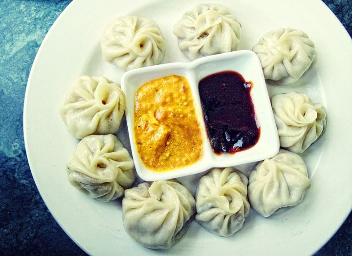 Momo's Served With Sesame and Chilly Sauce