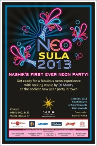 Neo SULA 13 , New Year Party at SULA Wines Nashik