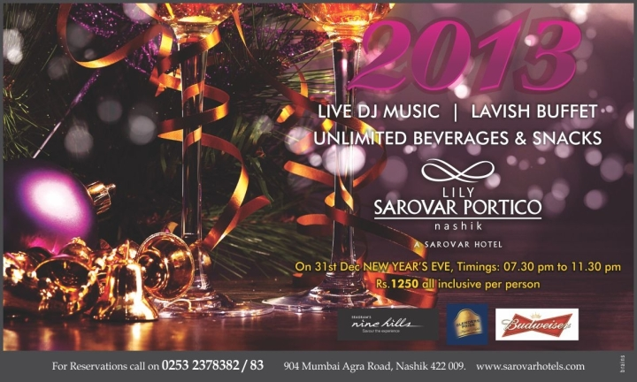 New Year Party Sarovar Lily Portico Nashik