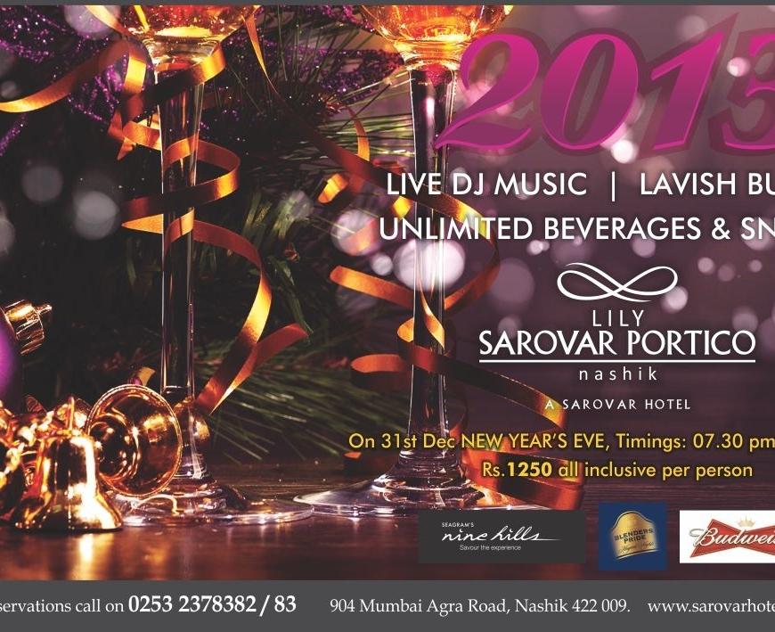 New Year Party Sarovar Lily Portico Nashik