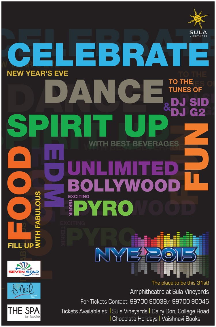 Sula new year party poster
