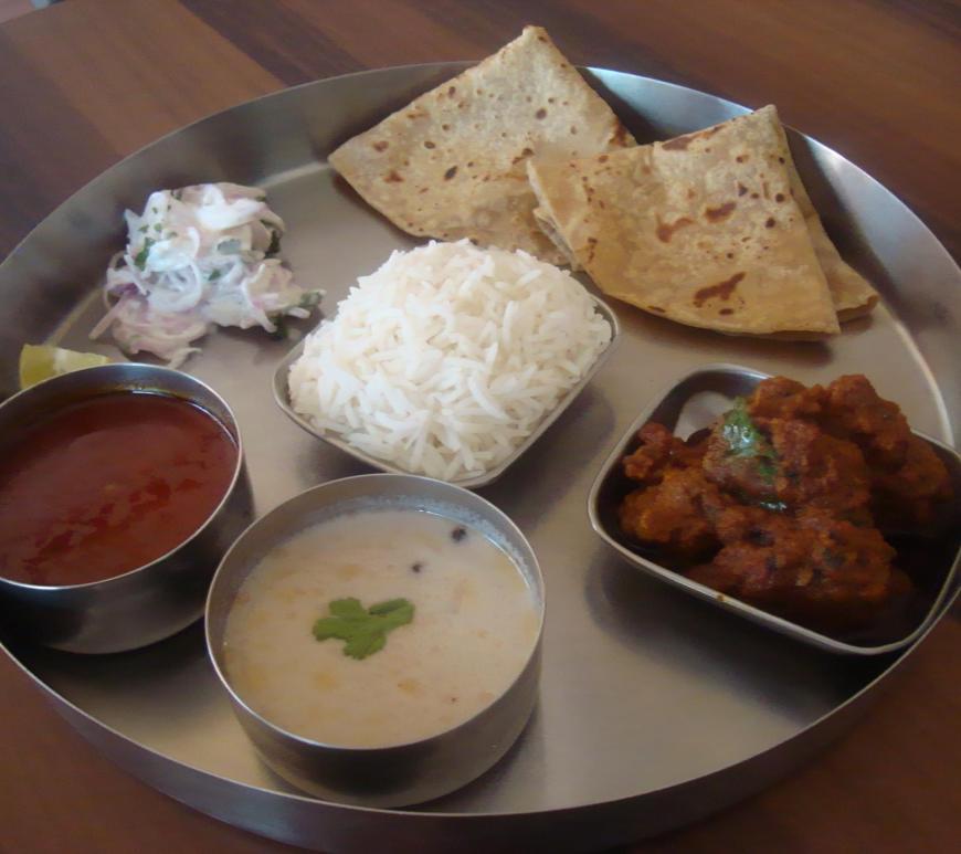 Kolhapuri Thali at Kolhapuri Tadka Nashik