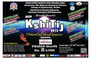 Kshitij 2013 National Level Technical Fest by KBTCOE Nashik