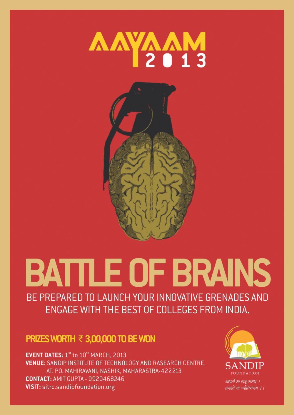 AAYAAM 2013 - Battle of Brains- Sandip Institute of Technology & Research Centre (SITRC)