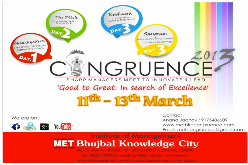MET Congruence 2013- Institute Of management Festival
