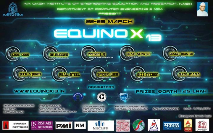 Equinox 13 Computer Department of K.K.Wagh College Of Engineering Education And Research, Nashik.