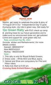 Go green rally by cruising godz nashik