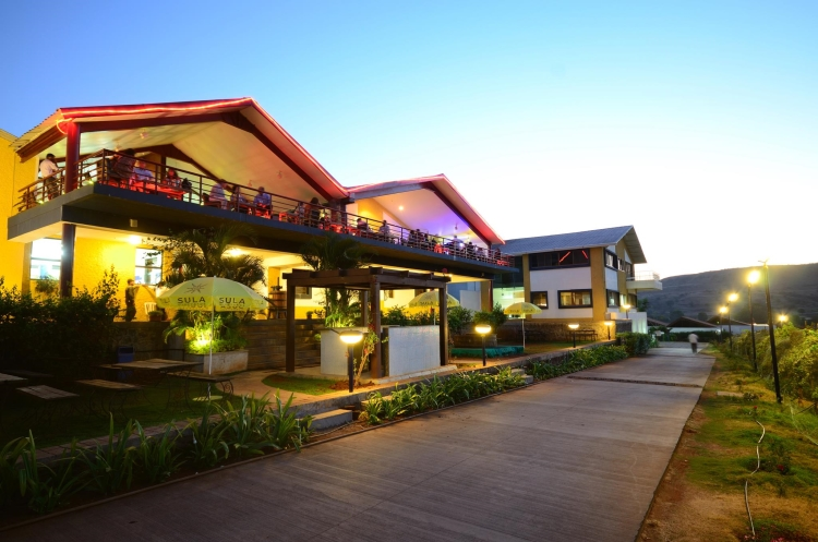 Tasting room at Sula vineyards nashik