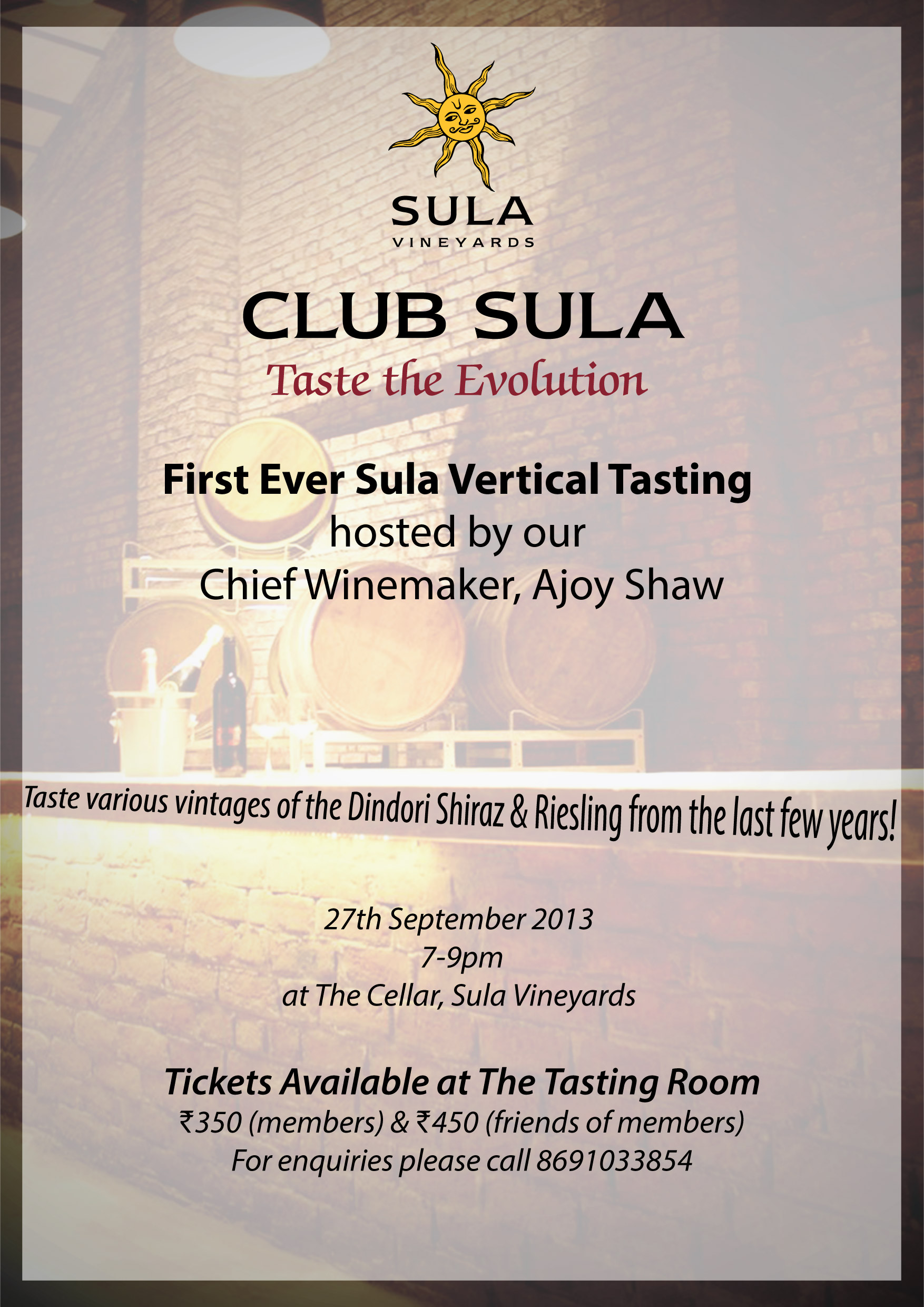 First Ever Sula Vertical Tasting