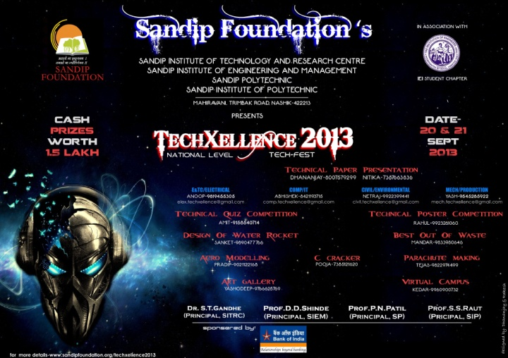 Tech Xellence national level college technical festival sandip foundation nashik