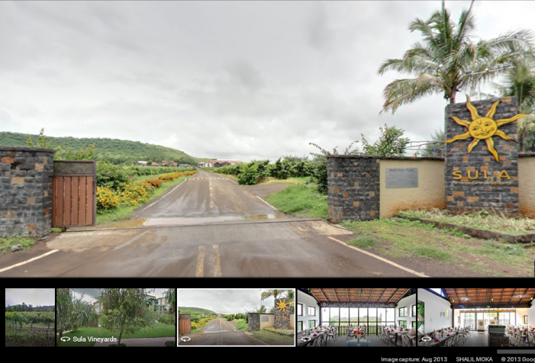 Sula vineyards on google street view
