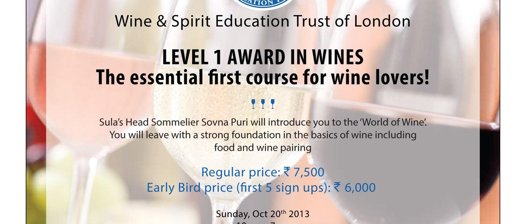 WSET Wine Course Nashik