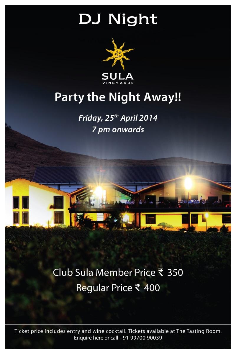 DJ Night at Sula Vineyards
