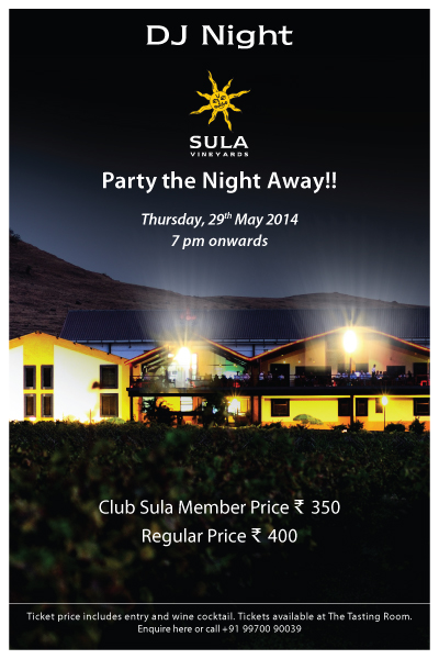 DJ night at Sula Vineyards