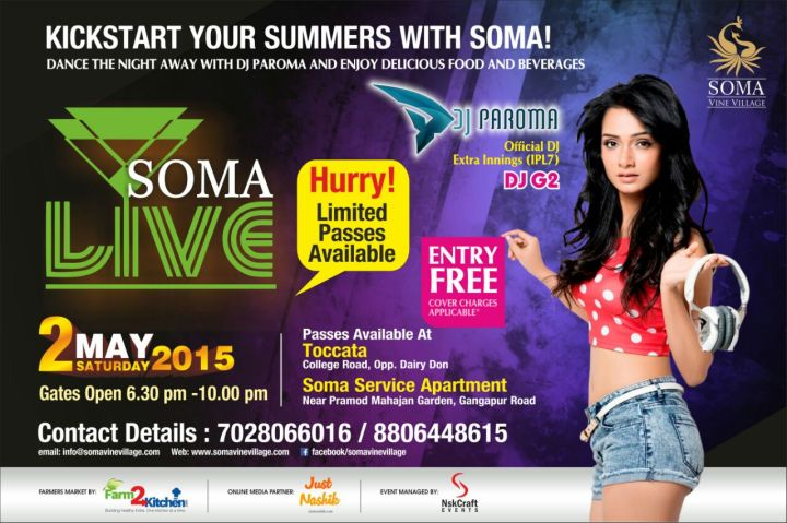DJ Paroma in Nashik at Soma