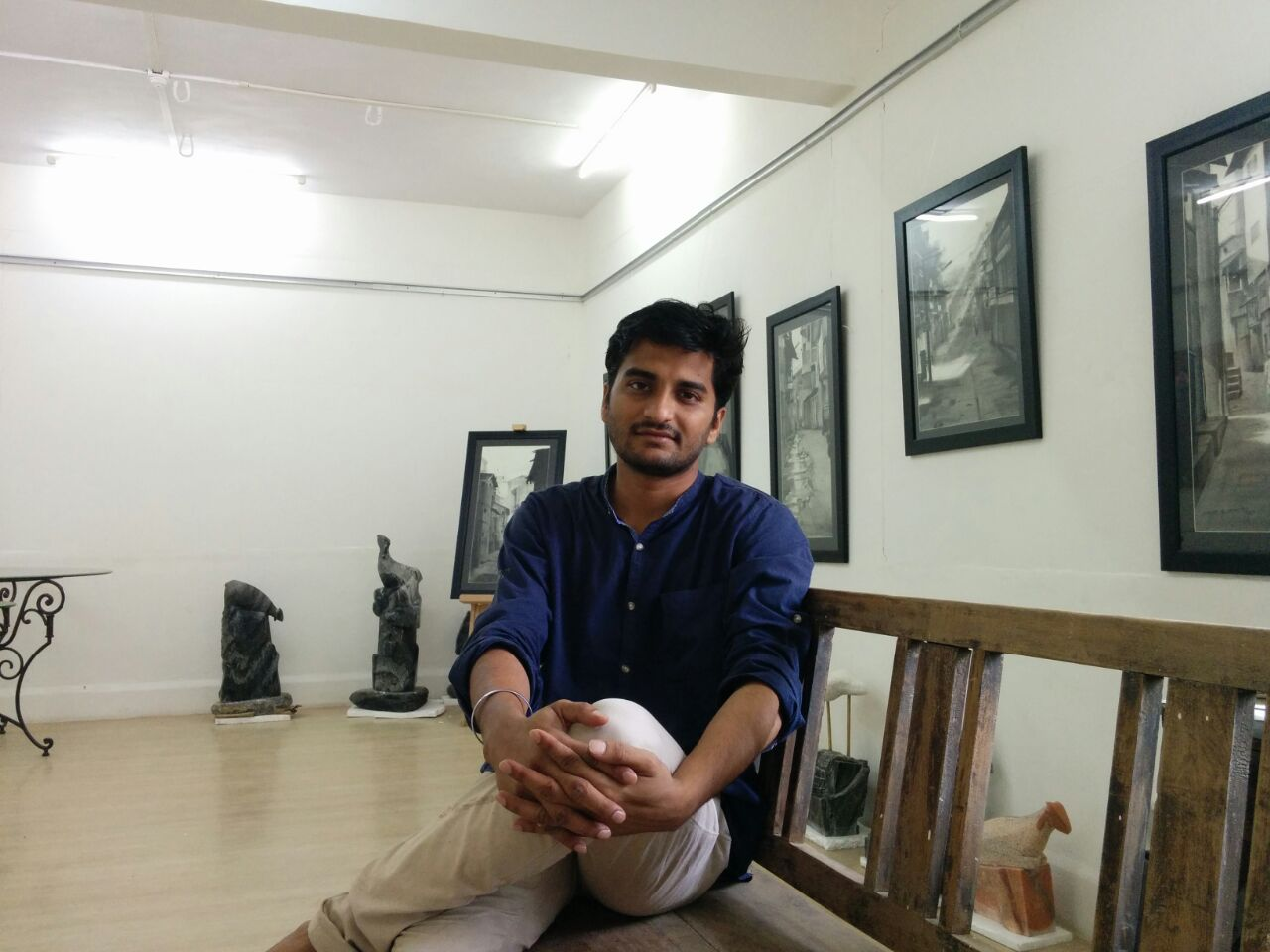 Ruchir Panchakshri at his new gallery