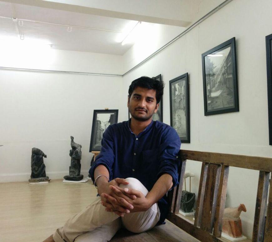 Ruchir Panchakshri at his new gallery