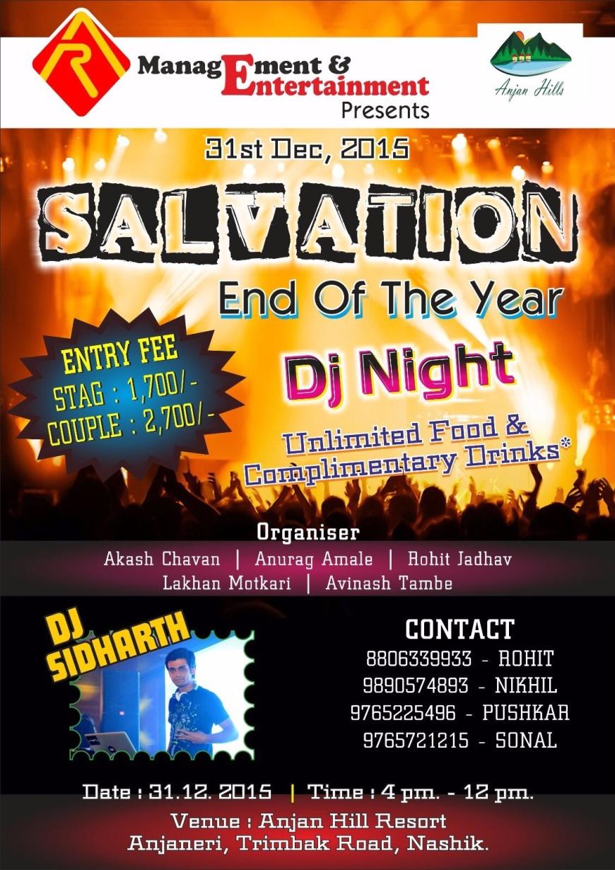 Salvation End of the Year, DJ Night, Nashik