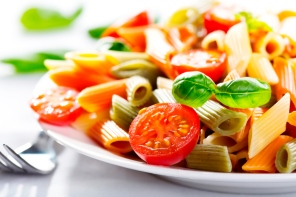 colorful pasta with vegetables