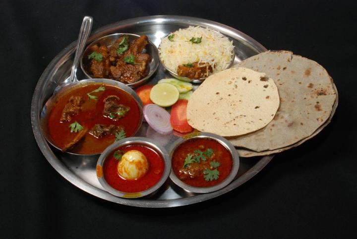 Maharashtra Darbar Mutton Thali