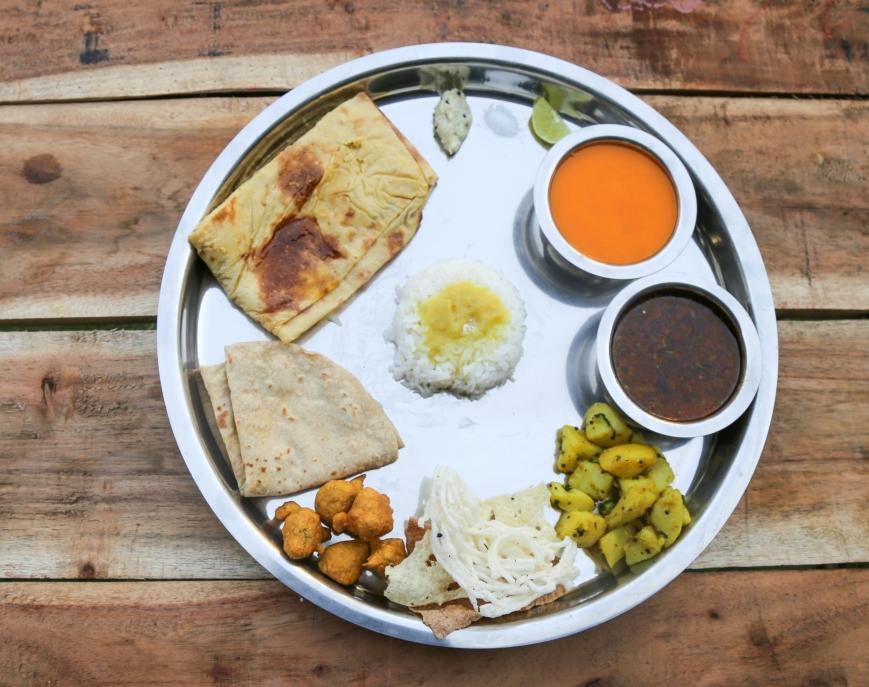 Amras Puran Poli Mande at Utsav Pure Veg Fine Dine, Nashik