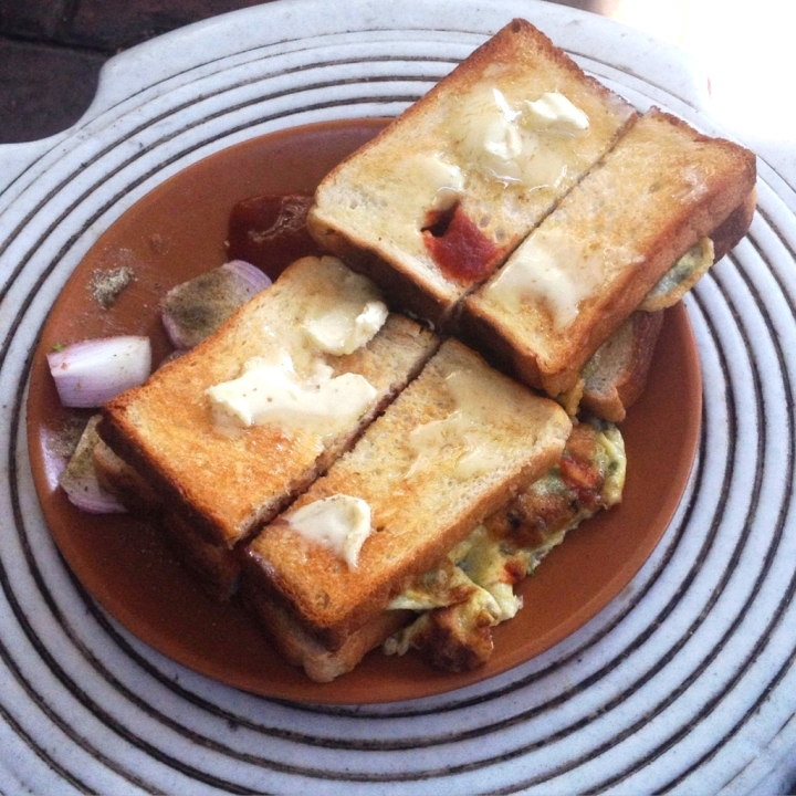 Omelette Sandwich at Mitravihar