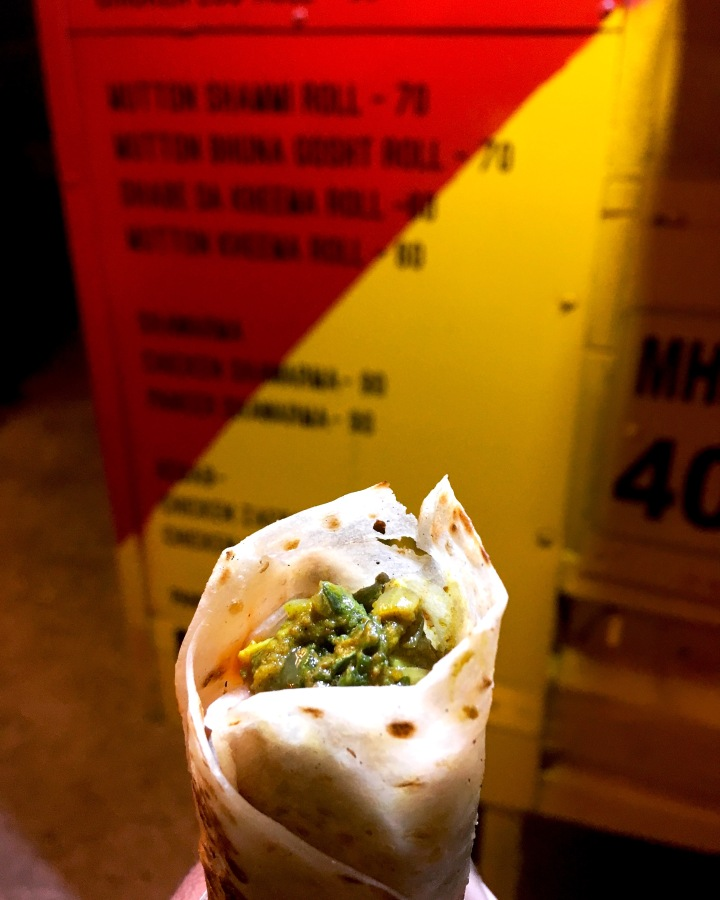 Egg Masala Roll at Nashik Wraps