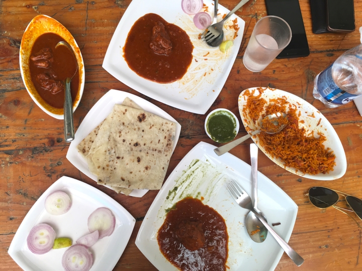 Muttton Rara, Mutton Rogan Josh & Chicken Pulav at Arabian Express