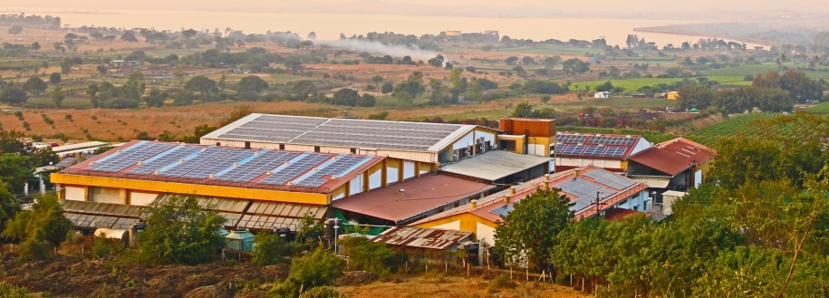 Solar Panels on all the roof tops of Sula